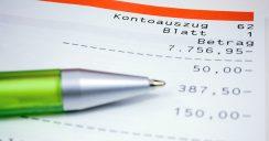 Wenn beim Home Banking der Saldo negativ ist