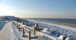 Marvellous winter feeling on the North Sea coast